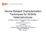 Device Related Characterization Techniques for Si/SiGe ... - IM2NP