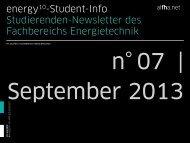 energy10-Student-Info Studierenden-Newsletter ... - Stefanie Erkeling