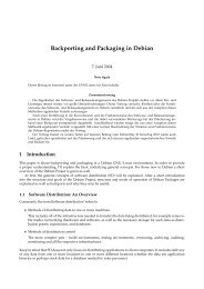 Backporting and Packaging in Debian - Business Linux Hanse ...