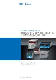 Aperçu du programme compteurs et afficheurs de process - Baumer