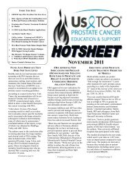 USToo Hotsheet November, 2011 - US TOO International