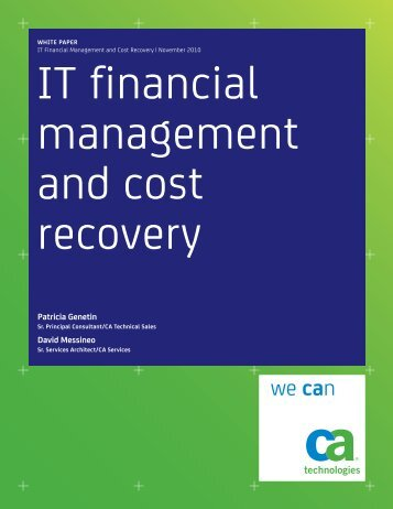 IT Financial Management and Cost Recovery - CA Technologies