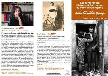 Les conférences Histoire et Patrimoine du Pays de Guingamp