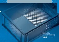 Kunststoffbehälter RAKO | Die Utz Gruppe