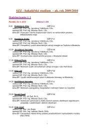 SZZ BS 5-2010 termín a pořadí