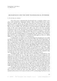ARCHAEOLOGY AND THE NEW TECHNOLOGICAL FETISHISM ...