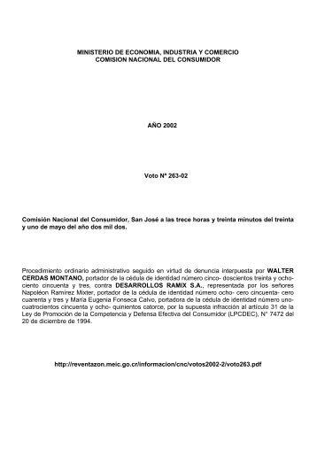 MINISTERIO DE ECONOMIA, INDUSTRIA Y COMERCIO COMISION ...