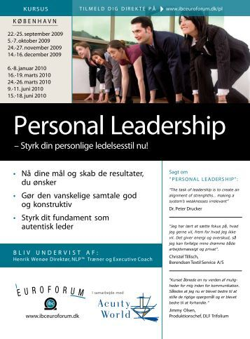 Personal Leadership - IBC Euroforum