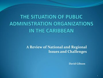 Issues and Problems in Caribbean Public Administration