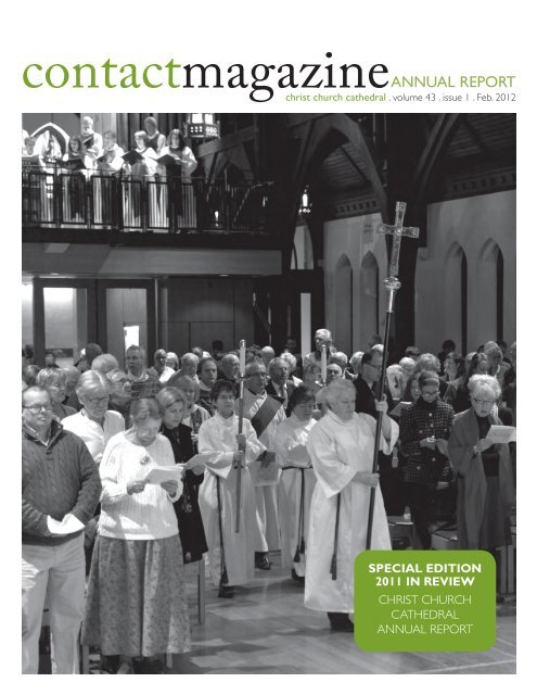Contact Annual Report - Christ Church Cathedral Vancouver