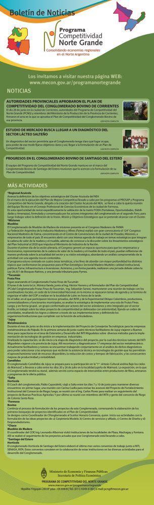 Boletín de Noticias Nro 9 - Junio 2011 - Ministerio de Economía