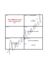 ESCADRILLE N-124 Dite LAFAYETTE - Ancestramil