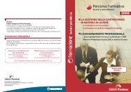 Scarica la Brochure completa del Percorso Formativo 2008