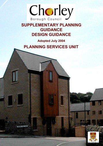 SUPPLEMENTARY PLANNING GUIDANCE DESIGN GUIDANCE ...