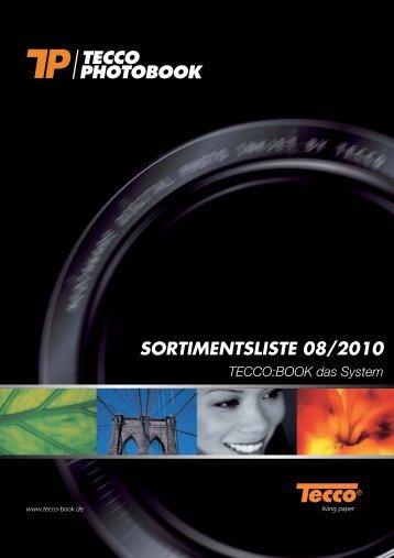 SORTIMENTSLISTE 08/2010 - Tecco