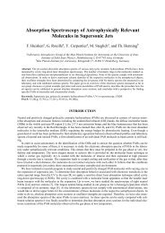 Absorption Spectroscopy of Astrophysically Relevant Molecules in ...