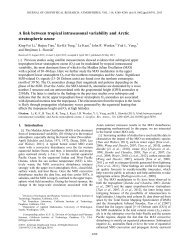 A link between tropical intraseasonal variability and Arctic ...