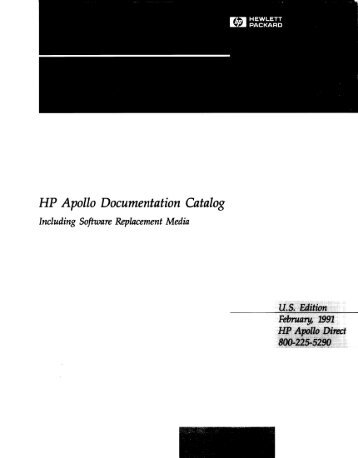 HP Apollo Documentation Catalog