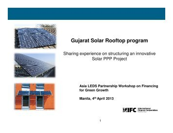 Gujarat Solar Rooftop program - Low Emissions Asian Development