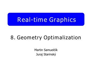 Real-time Graphics