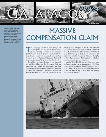 MASSIVE COMPENSATION CLAIM - Galapagos Conservancy