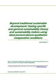 Beyond traditional sustainable development - Revista Virtual de ...