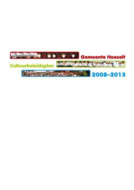 cultuurbeleidsplan 2008-2013 - Hoeselt.Be