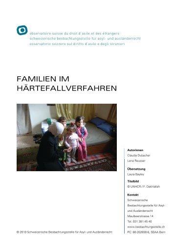 familien im härtefallverfahren - Schweizerische Beobachtungsstelle ...
