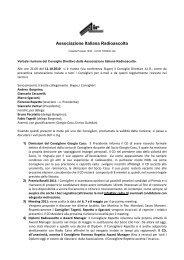 Verbale riunione CD dell'11 ottobre 2010 - Associazione Italiana ...