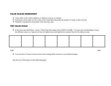 value scale worksheet