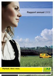 Rapport annuel 2009 - P&T