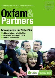 Advocacy: pleiten voor basisrechten - Oxfam-Solidariteit