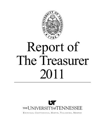 to read it. - Office of the Treasurer - The University of Tennessee