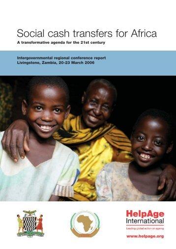 Social cash transfers for Africa - Handicap International