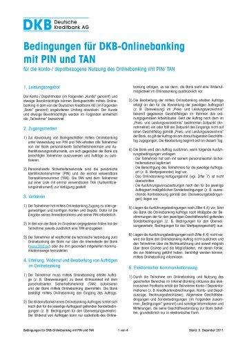 Bedingungen für DKB-Onlinebanking mit PIN und TAN - Deutsche ...
