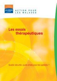 Les essais thérapeutiques - Ligue-cancer83.net