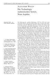 Die Technologie stalinistischen Terrors. Neue Aspekte - Rosa ...