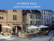 La Vieille ville de Belfort - incontournables - Belfort Tourisme