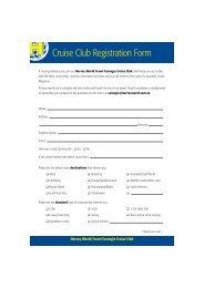 Cruise Club Registration Form