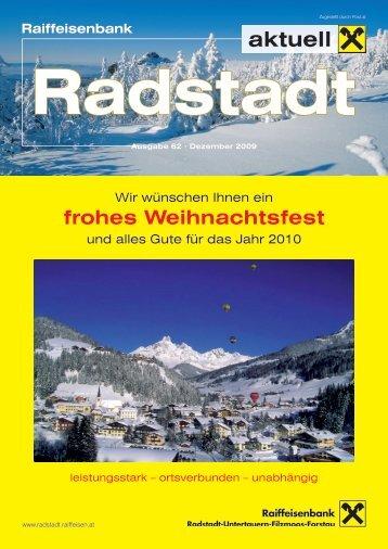Ausgabe Dezember 2009 - Raiffeisenbank Radstadt