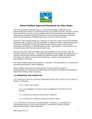 Dairy goats 2011 v2 1 Animal Welfare Approved Standards for Dairy ...