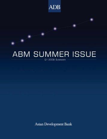 ABM Summer Issue - Q1 2009 Summary - AsianBondsOnline