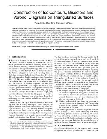 Construction of Iso-contours, Bisectors and Voronoi Diagrams on ...