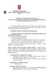 zahtjev za prikupljanje ponuda za nabavu usluge obrazovanje