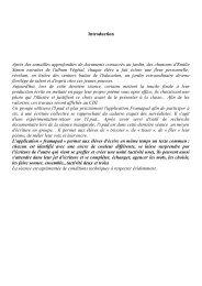 Introduction, feuille de route des élèves commentée, conclusion