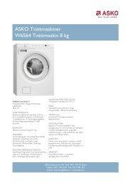 ASKO Tvättmaskiner W6564 Tvättmaskin 8 kg - Hemexperten
