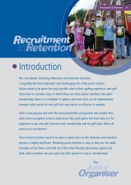 Junior Organisers Handbook: Recruitment & retention - England Golf