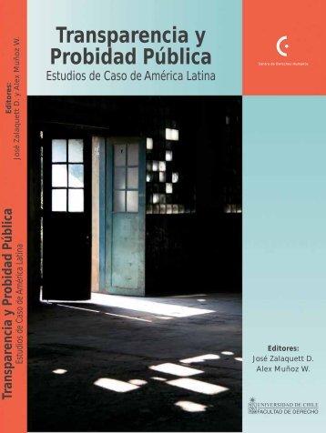Transparencia y Probidad Pública - Centro de Derechos Humanos