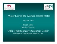 Water Law in the Western United States Utton Transboundary ...