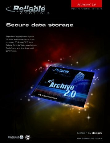 RC-Archive™ 2.0 - Reliable Controls